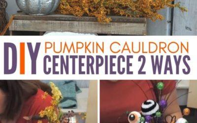 How to Turn a Pumpkin Cauldron Into a Halloween Centerpiece